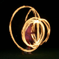 Kris Katchit uses fire poi