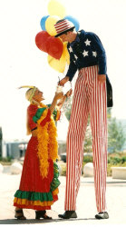 Kris Katchit as Uncle Sam stiltwalker